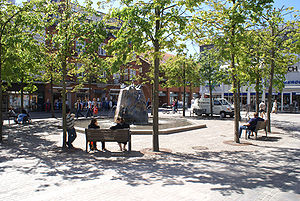 Holstebro Municipality - Pedestrian street (gågade) in central Holstebro, Denmark.