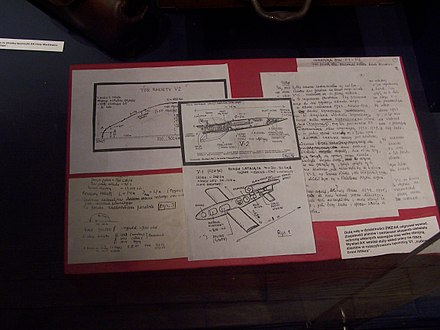 Home Army intelligence report with V1 and V2 schematic drawings. Home Army intelligence on V1 and V2.JPG