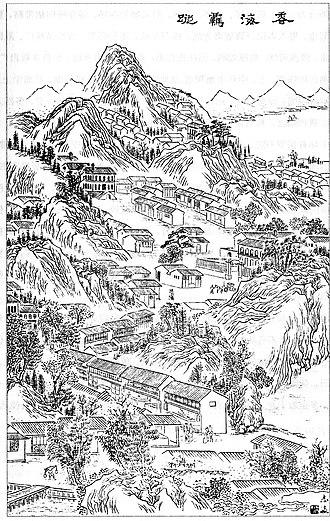 Wang Tao (19th century) - Drawing of Hong Kong in Wang Tao's 1887 travelog