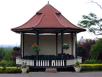 Music venue - A bandstand is an example of a small outdoor venue. Bandstands are typically circular or semicircular structures that accommodate musical bands performing outdoor concerts, providing shelter from the weather for the musicians.