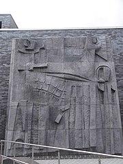 Hubert Dalwood Mural Relief