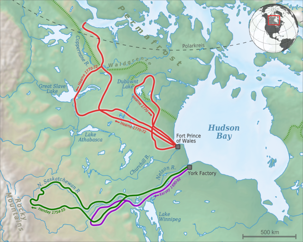Hudson Bay Exploration Western Interior map de