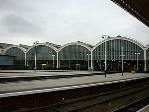 Hull Paragon Interchange - The 1904 trainshed (2011)