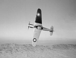 No. 213 Squadron RAF - A 213 Sqn Hurricane I over Cyprus, circa 1941.
