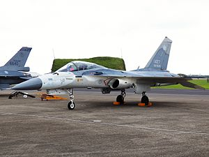 IDF F-CK-1 Display at Hsinchu AFB Apron 20120602.jpg