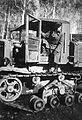 II. utászzászlóalj Bobor nevű tiszthelyettese egy Vorosilovec traktorral. Fortepan 14004.jpg