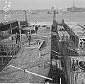 IJ-tunnel in aanbouw, Caisson V aan de zuidelijke zijde van het tunnelproject, Bestanddeelnr 918-2734.jpg