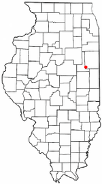 Location of Loda in Illinois