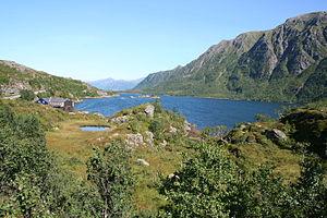 Langøya - Image: IMG 1578a Lifjorden