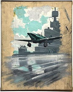 INF3-38 Aeroplane taking off from aircraft carrier 1939-1946.jpg