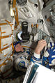 ISS-20 Michael Barratt in the Soyuz TMA-14 spacecraft.jpg