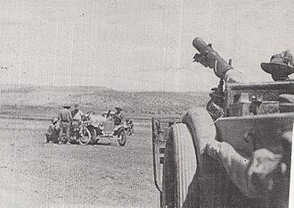 Battle of Haifa (1918) - 1st Australian Light Armoured Car Patrol on the coast road west of Mount Carmel