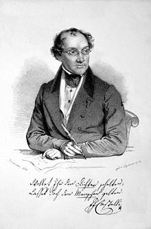 Ignaz Franz Castelli, Lithographie von Joseph Kriehuber, 1835 (Quelle: Wikimedia)