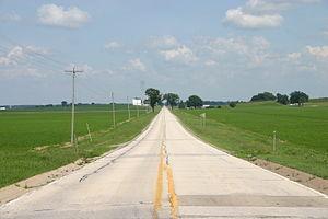 Illinois Route 92 - Illinois Route 92 in the fertile farmland of western Illinois.