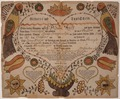 Illustrated family record (Fraktur) found in Revolutionary War Pension and Bounty-Land-Warrant Application File... - NARA - 300195.tif