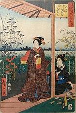 Illustration for the Genji Monogatari from the 19th century, Musée Saint-Remi