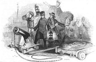 Gambar Mortir Manby, 1842
