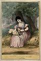 In a woodland dell, a lamb with the head of a man sits on th Wellcome V0050209.jpg