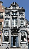 Example of a Rococo façade of a house in Mechelen (Belgium)