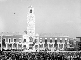 Latina, Lazio - The inauguration of Littoria in 1932.