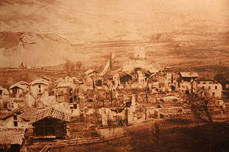 Chalais, Switzerland - Chalais after the 1892 fire.