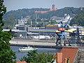 Industriehafen mit der Marineschule Mürwik im Hintergrund (Flensburg Mai 2016), Bild 01.jpg