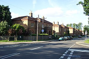 Knaphill - Surviving housing (originally built for prison officers) on Raglan Terrace.