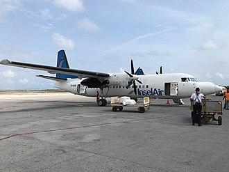 Insel Air - Insel Air Fokker 50 at Curaçao