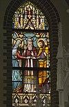 interieur kleine kapel, noordertransept, glas in loodraam met jozefaltaar - lith - 20334125 - rce