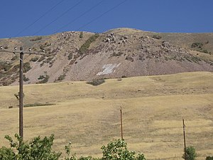 Intermountain Indian School - The letter I representing the school is still visible on the mountainside.