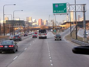 Interstate 55 - Northern terminus at Lake Shore Drive/U.S. Route 41 in Chicago.