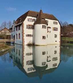 Inzlingen Inzlinger Wasserschloss Gesamtansicht quadratisch