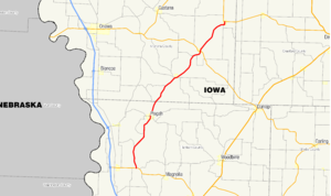 Iowa Highway 183 - Image: Iowa 183 map