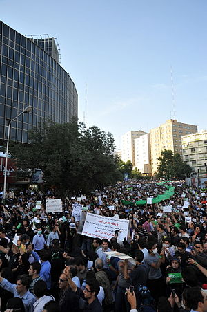 2009 Iranian presidential election protests - Image: Iran election protest June 16 6996