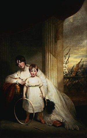 Pascoe St Leger Grenfell - Portrait of Georgiana St Leger and her son Pascoe St Leger Grenfell.