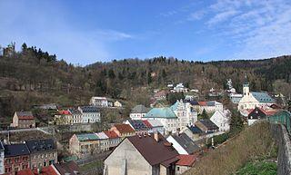 Jáchymov Town in Karlovy Vary, Czech Republic