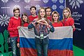 JESC 2018 partisipants. Anna Filipchuk with her team (Russia).jpg