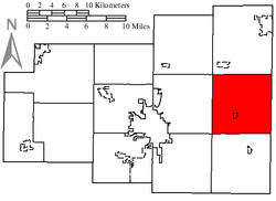 Location of Jackson Township, Allen County, Ohio