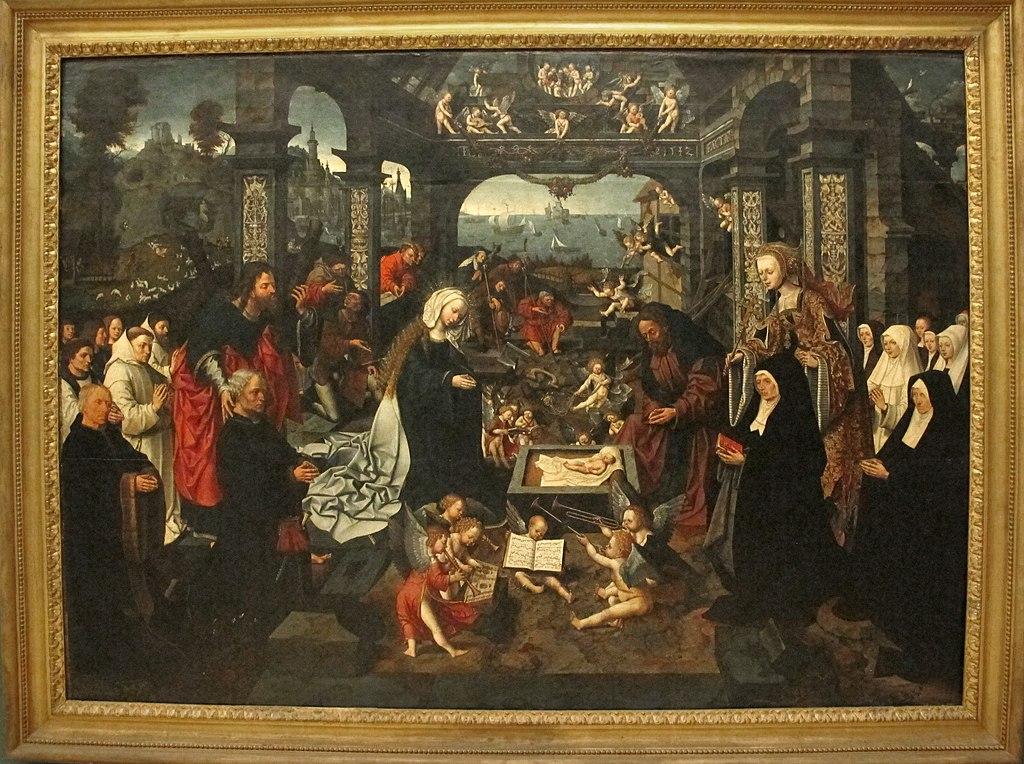 Jacob van oostsaanen, adorazione del bambino, 1512, Q3.JPG
