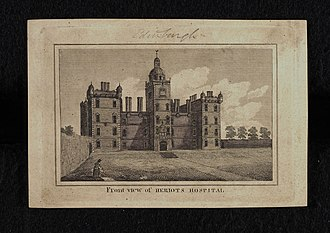 George Heriot - Front (north) view of Heriot's Hospital