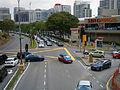 Jalan Kemajuan Subang facing NW, three-way intersection in front of Subang Parade, Subang Jaya, Malaysia (28 May 2014) (02).jpg