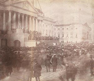 Inauguration of James Buchanan - Image: James Buchanan inauguration 1857