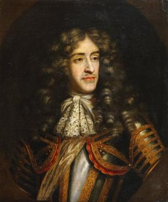 Exclusion Crisis - Portrait of the Duke of York as Lord High Admiral of England.  In 1673, the Duke of York, who had converted to Catholicism, resigned as Lord High Admiral rather than take the anti-Catholic oath prescribed by the Test Act.