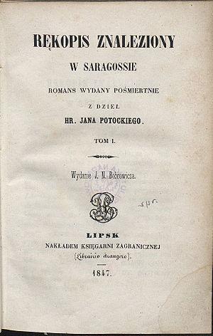 The Manuscript Found in Saragossa cover