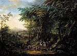 Janneck, Franz Christoph - Travellers on a Forest Road - c. 1730.jpg