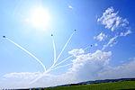 Japan air self defense force Kawasaki T-4 Blue Impulse RJST Sunrise.JPG