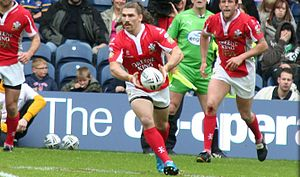 Jarrod Sammut - Sammut playing for the Crusaders RL in 2010.