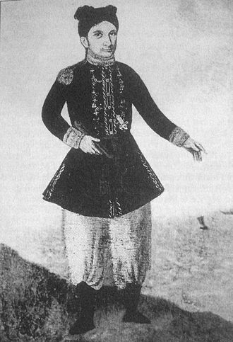 French assistance to Nguyễn Ánh - Jean-Baptiste Chaigneau (in mixed Franco-Vietnamese uniform) was an important actor of the first French intervention in Vietnam.