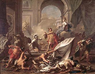 Athis (mythology) - Nattier, Perseus petrifying Phineus