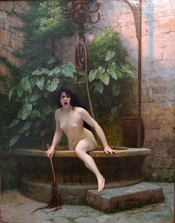 <i>Truth Coming Out of Her Well</i> painting by Jean-Léon Gérôme